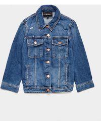 Emporio Armani Denim Jacket Mid Wash - Blue