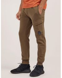 C P Company Lens Cuffed Track Pants Khaki - Natural