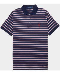 Polo Ralph Lauren Stripe Short Sleeve Polo Shirt Blue