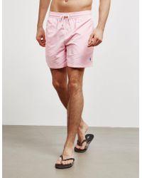 Polo Ralph Lauren - Basic Swim Shorts Pink - Lyst