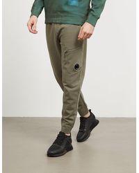 C P Company Lens Fleece Pants Green