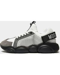 Moschino Mesh Trainers - White