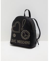 Love Moschino - Womens Stud Backpack Black - Lyst