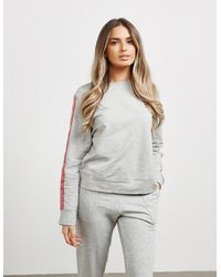 Calvin Klein Repeat Logo Crew Sweatshirt Grey - Gray