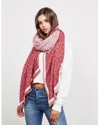 Calvin Klein - Womens Check Scarf - Online Exclusive Red - Lyst