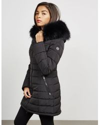 FROCCELLA - Womens Long Quilted Padded Jacket Black - Lyst