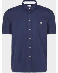 PS by Paul Smith - Basic Zebra Shirt Blue - Lyst