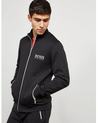 BOSS - Mens Poly Pique Full Zip Track Top Black - Lyst