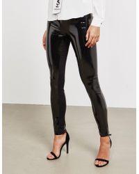 Karl Lagerfeld - Womens Patent Trousers Black - Lyst