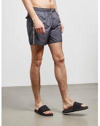 Emporio Armani Logo Tape Swim Shorts Grey