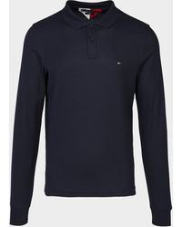 Tommy Hilfiger Metal Long Sleeve Polo Shirt Blue