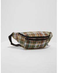 Fred Perry Check Bum Bag Green