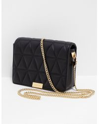 Michael Kors - Womens Jade Quilted Clutch Bag Black/gold - Lyst