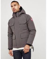 Canada Goose - Mens Maitland Padded Parka Jacket Grey - Lyst