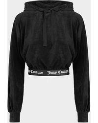 Juicy Couture Virgina Ribbed Hoodie - Black