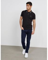 Armani Jeans - Mens Twin Tipped Short Sleeve Polo Shirt Black - Lyst