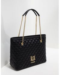 Love Moschino Quilted Shopper Bag Black