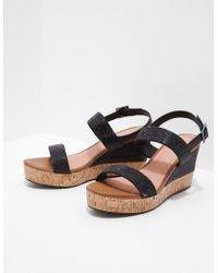 Ilse Jacobsen - Womens Poppy Diamante Wedge Sandals Black - Lyst