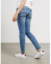 Tommy Hilfiger - Womens Skinny Salt And Pepper Jeans Blue - Lyst