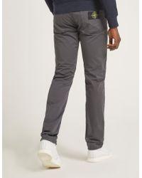 Stone Island - Mens Slim Satine Gabardine Jeans Grey - Lyst