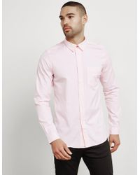 PS by Paul Smith - Mens Oxford Long Sleeve Shirt Pink - Lyst