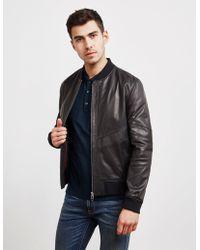 HUGO Lachlan Leather Jacket Black