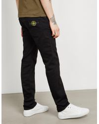 Stone Island - Mens Reg Tapered Jean Black - Lyst