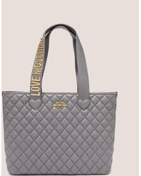 Love Moschino - Womens Quilted Shopper Bag Grey - Lyst