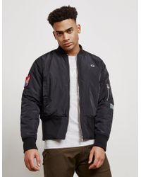 Champion X Wood Wood Bomber Jacket - Online Exclusive Navy Blue