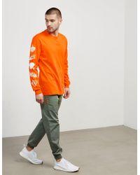 Iuter Multi Logo Long Sleeve T-shirt - Exclusive Orange