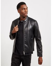 Armani Exchange Leather Jacket Black