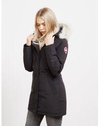 Canada Goose - Victoria Padded Parka Jacket Black - Lyst