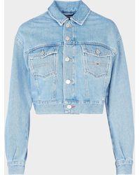 Tommy Hilfiger Trucker Crop Jacket Blue