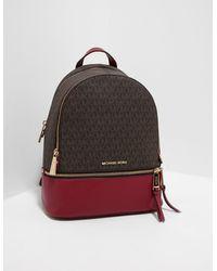 Michael Kors Rhea Zip Backpack Brown