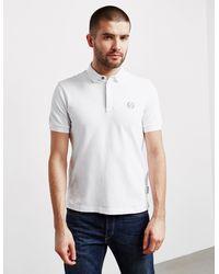 Armani Exchange Nylon Short Sleeve Polo Shirt White