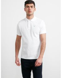 Barbour - Mens Sports Short Sleeve Polo Shirt White - Lyst