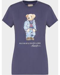 Polo Ralph Lauren Denim Bear T-shirt Blue