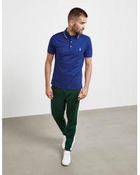 Polo Ralph Lauren - Mens Tipped Short Sleeve Polo Shirt Blue - Lyst