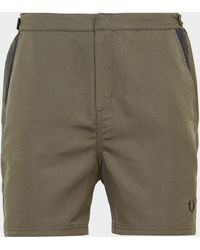 Fred Perry Contrast Panel Swim Shorts Green