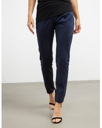 Armani Exchange Suede Leggings Navy Blue
