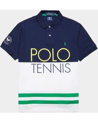 Polo Ralph Lauren Wimbledon Tipped Short Sleeve Polo Shirt Navy Blue