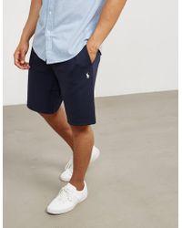 Polo Ralph Lauren - Mens Basic Fleece Shorts Navy Blue - Lyst