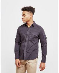 C P Company - Mens Double Pocket Long Sleeve Shirt Black - Lyst