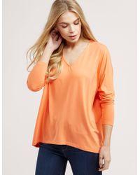 Ilse Jacobsen - Womens Square Cut Top Orange - Lyst