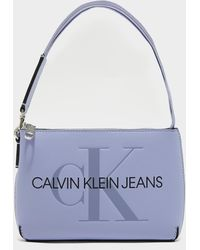 Calvin Klein Shoulder Pouch Bag Purple
