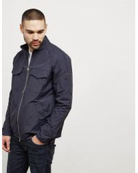 Barbour - Mens International Fakie Overshirt Navy Blue - Lyst