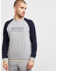 BOSS - Mens Authentic Crew Sweatshirt Grey - Lyst