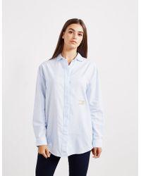 Tommy Hilfiger - Womens Boyfriend Long Sleeve Shirt - Online Exclusive Blue - Lyst