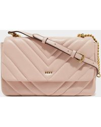 DKNY Vivian Quilted Cross Body Bag - Pink