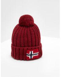 0f14dc99f00 Lyst - Napapijri Semiury Bobble Hat Grey in Gray for Men